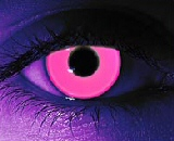 pink glow in dark contact lenses