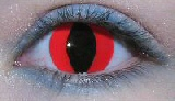 Red cat eyes contact lenses