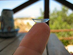 inisde out soft contact lens